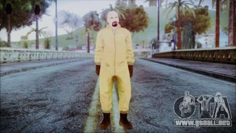 Walter White Breaking Bad Chemsuit para GTA San Andreas segunda pantalla