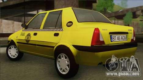 Dacia Solenza Taxi para GTA San Andreas left