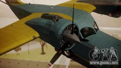 Grumman G-21 Goose N130FB para la visión correcta GTA San Andreas