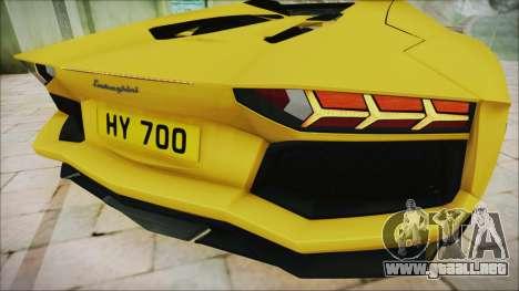Lamborghini Aventador LP700-4 Roadster 2013 para visión interna GTA San Andreas