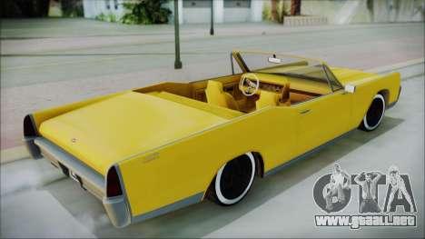 GTA 5 Vapid Chino Bobble Version para GTA San Andreas vista posterior izquierda