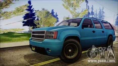 GTA 5 Declasse Granger FIB SUV IVF para GTA San Andreas