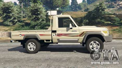 GTA 5 Toyota Land Cruiser LX Pickup 2016 vista lateral izquierda