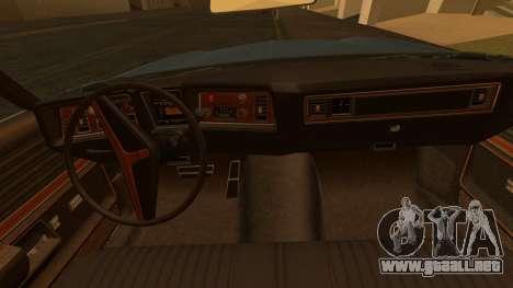 Oldsmobile Delta 88 1973 Final para GTA San Andreas vista posterior izquierda