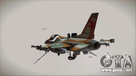 F-16C Block 25 Israeli Air Force para GTA San Andreas left