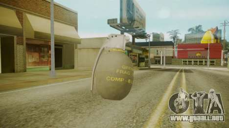 GTA 5 Grenade para GTA San Andreas tercera pantalla
