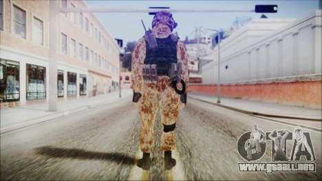 MW2 Russian Airborne Troop Desert Camo v4 para GTA San Andreas tercera pantalla