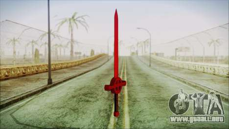 Demon Blood Sword from Adventure Time para GTA San Andreas segunda pantalla