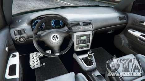 GTA 5 Volkswagen Golf Mk4 R32 vista lateral trasera derecha
