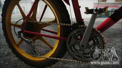 Mtbike HD para GTA San Andreas vista hacia atrás