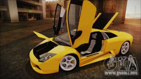Lamborghini Murcielago 2005 Yuno Gasai IVF para GTA San Andreas vista hacia atrás