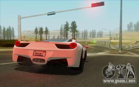 Amazing Graphics para GTA San Andreas sucesivamente de pantalla