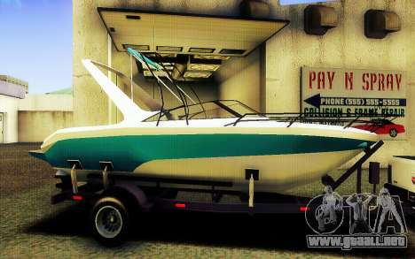 GTA V Boat Trailer para GTA San Andreas left
