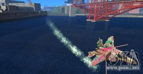 Water Effect para GTA San Andreas segunda pantalla