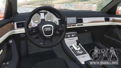 GTA 5 Audi A8 v1.1 vista lateral derecha