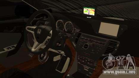 Honda Accord Type S 2008 RHBK para la visión correcta GTA San Andreas