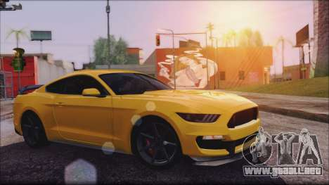Ford Mustang Shelby GT350R 2016 No Stripe para GTA San Andreas left