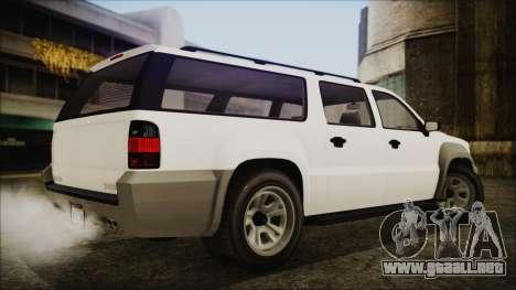 GTA 5 Declasse Granger Civilian IVF para GTA San Andreas left