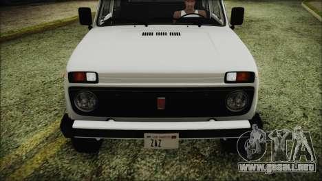 VAZ 2121 Niva 1600 FIV APT para visión interna GTA San Andreas