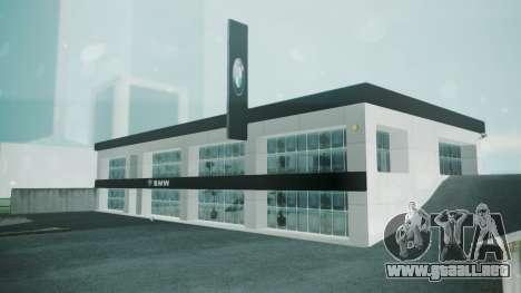 BMW Showroom para GTA San Andreas segunda pantalla