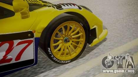 McLaren F1 GTR 1998 Parabolica para GTA San Andreas vista posterior izquierda