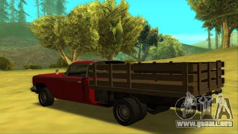 Voodoo El Camino v2 (Truck) para GTA San Andreas vista posterior izquierda