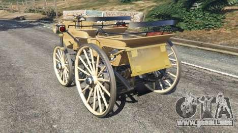 GTA 5 Daimler 1886 [wood] vista lateral izquierda trasera