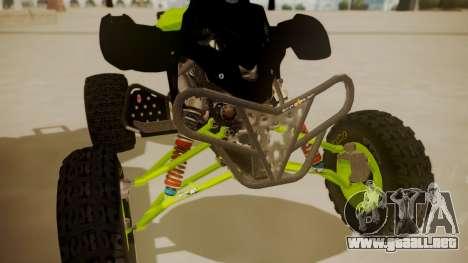 Honda TRX450 Quad para GTA San Andreas vista hacia atrás