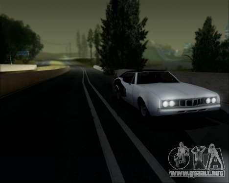 Clover Barracuda para GTA San Andreas vista hacia atrás