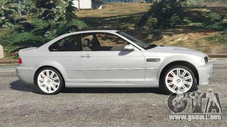 GTA 5 BMW M3 (E46) vista lateral izquierda
