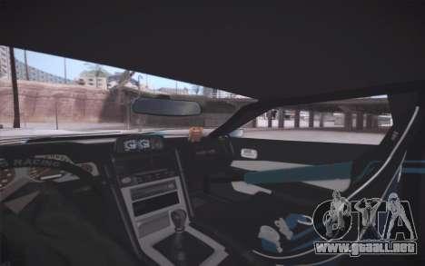 Elegy DRIFT KING GT-1 (Stok wheels) para la vista superior GTA San Andreas