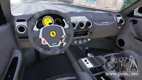 GTA 5 Ferrari F430 2004 vista lateral trasera derecha