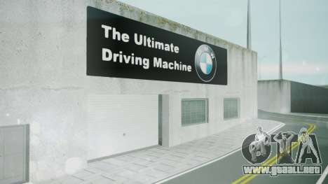 BMW Showroom para GTA San Andreas tercera pantalla