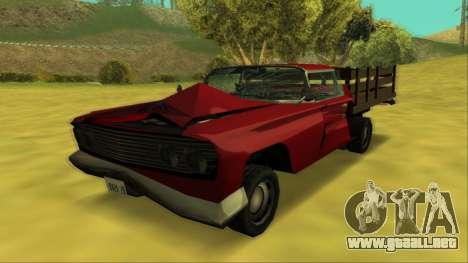 Voodoo El Camino v2 (Truck) para la vista superior GTA San Andreas