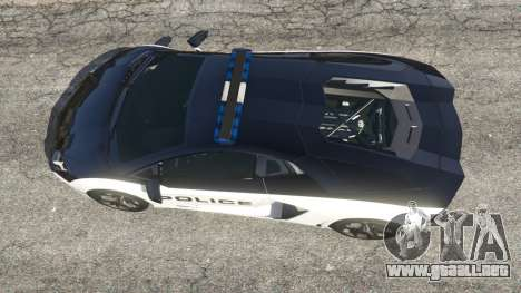 GTA 5 Lamborghini Aventador LP700-4 Police v5.5 vista trasera