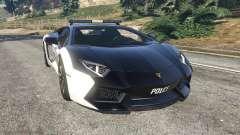 Lamborghini Aventador LP700-4 Police v5.5 para GTA 5