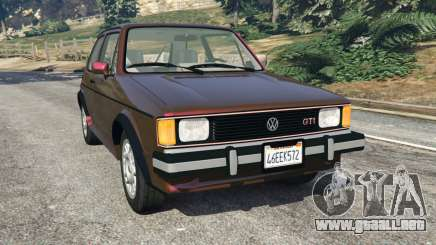 Volkswagen Rabbit 1986 v2.0 para GTA 5