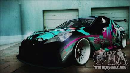 Hyundai Genesis Coupe Hatsune Miku Itasha PJ para GTA San Andreas