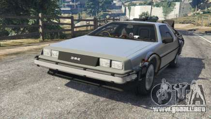 DeLorean DMC-12 Back To The Future v1.0 para GTA 5
