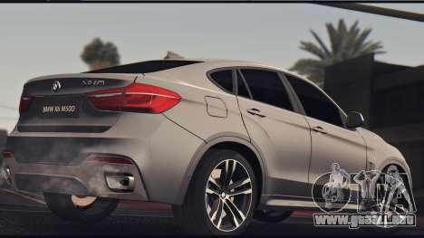 BMW X6M 50D para GTA San Andreas vista posterior izquierda