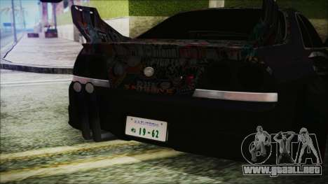 Nissan Skyline R33 Widebody v2.0 para visión interna GTA San Andreas
