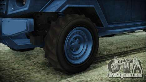 GTA 5 HVY Insurgent Van IVF para GTA San Andreas vista posterior izquierda