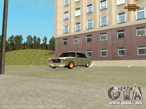 VAZ 2107 Coche para visión interna GTA San Andreas