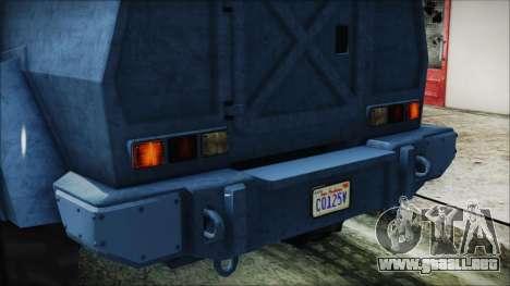 GTA 5 HVY Insurgent Van IVF para vista lateral GTA San Andreas