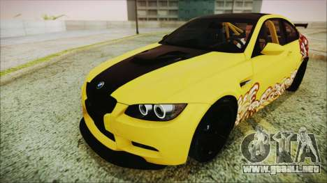 BMW M3 GTS 2011 HQLM para vista lateral GTA San Andreas