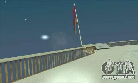 Armenia bandera en el monte Chiliad para GTA San Andreas