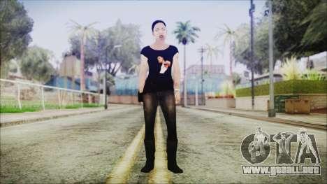 Left 4 Dead Rochelle para GTA San Andreas segunda pantalla