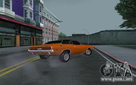 Dodge Challenger Tunable para la vista superior GTA San Andreas