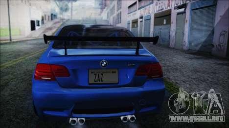 BMW M3 GTS 2011 HQLM para GTA San Andreas left