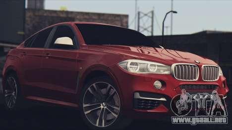 BMW X6M 50D para GTA San Andreas left